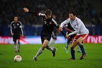 USSBALL   1. BUNDESLIGA    SAISON 2012/2013    10. Spieltag   Hamburger SV - FC Bayern Muenchen                    03.11.2012 Thomas Mueller (li, FC Bayern Muenchen) gegen Milan Badelj (re, Hamburger SV)