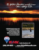 Commercial Advertising Samples for RE/MAX Realty of Missoula, MT, where stock images were purchased for magazine ads and the banner of their website.  www.wesellmissoula.com