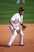 Surprise Saguaros third baseman Patrick Wisdom (23) during an Arizona Fall League game against the Salt River Rafters on October 20, 2015 at Salt River Fields at Talking Stick in Scottsdale, Arizona.  Surprise defeated Salt River 3-1.  (Mike Janes/Four Seam Images)