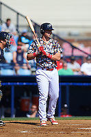 Reading Fightin Phils first baseman Rhys Hoskins (12) at bat during a game against the New Hampshire Fisher Cats on June 6, 2016 at FirstEnergy Stadium in Reading, Pennsylvania.  Reading defeated New Hampshire 2-1.  (Mike Janes/Four Seam Images)