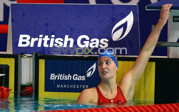 PICTURE BY VAUGHN RIDLEY/SWPIX.COM...Swimming - British Gas Swimming Championships 2011, Day 7 - Manchester Aquatics Centre, Manchester, England - 11/03/11...Stephanie Proud wins Gold in the Womens 200m Backstroke Final.