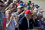 WEST PALM BEACH, FL - FEBRUARY 17: Supporters waiting for U.S. President Donald J. Trump to arrive on Air Force One at the Palm Beach International airport as they prepare to spend part of the weekend at Mar-a-Lago resort on February 17, 2017 in West Palm Beach, Florida. After touring and meeting with Dennis Muilenburg Chairman of the Board, President, and CEO of the Boeing Company in North Charleston, South Carolina.  President Trump schedule to hold a campaign rally tomorrow at Melbourne Florida. ( Photo by Johnny Louis / jlnphotography.com )