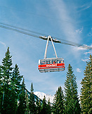 USA, Utah, the snowbird tram transports skiers to the top of the mountain, Snowbird Ski Resort
