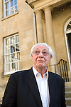 Barry Norman at Christ Church during the Sunday Times Oxford Literary Festival, UK, 24 March - 1 April 2012. ..PHOTO COPYRIGHT GRAHAM HARRISON .graham@grahamharrison.com.+44 (0) 7974 357 117.Moral rights asserted.