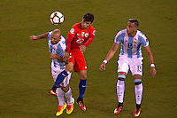 Action photo during the match Argentina vs Chile corresponding to the Final of America Cup Centenary 2016, at MetLife Stadium.<br /> <br /> Foto durante al partido Argentina vs Chile cprresponidente a la Final de la Copa America Centenario USA 2016 en el Estadio MetLife , en la foto:Javier Mascherano de Argentina<br /> <br /> <br /> 26/06/2016/MEXSPORT/JAVIER RAMIREZ