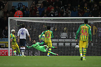 West Bromwich Albion's Charlie Austin scores his sides first goal   from the penalty spot<br /> <br /> Photographer Mick Walker/CameraSport<br /> <br /> The EFL Sky Bet Championship - Preston North End v West Bromwich Albion - Monday 2nd December 2019 - Deepdale Stadium - Preston<br /> <br /> World Copyright © 2019 CameraSport. All rights reserved. 43 Linden Ave. Countesthorpe. Leicester. England. LE8 5PG - Tel: +44 (0) 116 277 4147 - admin@camerasport.com - www.camerasport.com