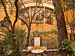 Fountain and gardens at the Sorolla Museum in Madrid, Spain