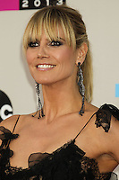 LOS ANGELES, CA - NOVEMBER 24: Heidi Klum arriving at the 2013 American Music Awards held at Nokia Theatre L.A. Live on November 24, 2013 in Los Angeles, California. (Photo by Celebrity Monitor)
