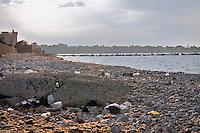the polluted coast of Carini, Palermo.<br /> la costa inquinata di Carini, Palermo