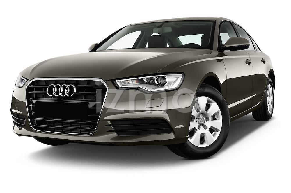 Low aggressive front three quarter view of a 2014 Audi A6 AVUS 4 Door Sedan 2WD