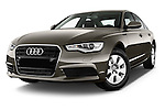 Low aggressive front three quarter view of a 2014 Audi A6 AVUS 4 Door Sedan 2WD