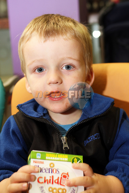 Max Baker at the Breakfast Morning with Mumstown.ie in Conjunction with ISPCC, Childline and Cheerios...Picture Jenny Matthews/Newsfile.ie