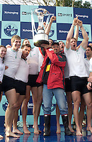 London, GREAT BRITAIN,  Cambridge, Head coach, Duncan HOLLAND with the Boat race trophy after cambridge win the 2007 Boat race, on  Sat. April 7th. England [Photo Patrick White/Intersport Images] Varsity Boat Race, Rowing Course: River Thames, Championship course, Putney to Mortlake 4.25 Miles,