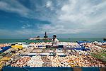 Kanyakumari , state, of ,Tamil Nadu, india,, Gandhi ,Memorial,  bay of bangle , arabian sea , indian ocean,tip of india, 3 oceans meet,  sea shell salesman, sky,Thiruvalluvar Statue,
