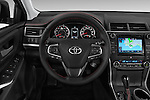 Car pictures of steering wheel view of a 2015 Toyota Camry Se 4 Door Sedan