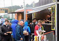 Lincoln City fans enjoy the pre-match atmosphere in the fan zone<br /> <br /> Photographer Chris Vaughan/CameraSport<br /> <br /> The Carabao Cup Second Round - Lincoln City v Everton - Wednesday 28th August 2019 - Sincil Bank - Lincoln<br />  <br /> World Copyright © 2019 CameraSport. All rights reserved. 43 Linden Ave. Countesthorpe. Leicester. England. LE8 5PG - Tel: +44 (0) 116 277 4147 - admin@camerasport.com - www.camerasport.com