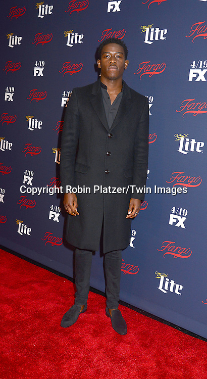 Damson Idris attends FX's 2017 All-Star Upfront on  April 6, 2017 at SVA Theater in New York, New York, USA. <br /> <br /> photo by Robin Platzer/Twin Images<br />  <br /> phone number 212-935-0770
