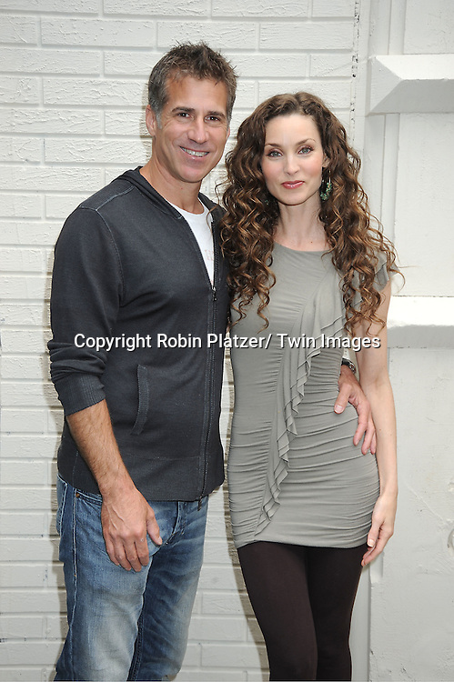 Alicia Minshew and husband Richie Herschenfeld attending the Good Night Pine Valley Event co-hosted by All My Children actors Ricky Paull Goldin and Alicia Minshew on September 17, 2011 at Prohibition in New York City