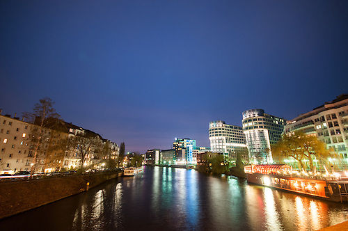 Moabit blue hour<br /> Moabit is an inner city locality of Berlin. Since Berlin's 2001 administrative reform it belongs to the newly regrouped governmental borough of Mitte. Previously, from 1920 to 2001, it belonged to the borough of Tiergarten