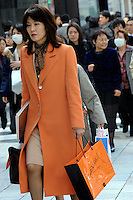 Shoppers in downtown Tokyo, Ginza, Japan. As Japan is seeing the light after over ten years recession public consumer spending is on the increase..