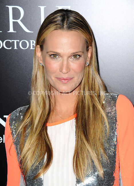 WWW.ACEPIXS.COM<br /> <br /> October 7 2013, LA<br /> <br /> Molly Sims arrives at the premiere of  'Carrie' at ArcLight Cinemas on October 7, 2013 in Hollywood, California.<br /> <br /> By Line: Peter West/ACE Pictures<br /> <br /> <br /> ACE Pictures, Inc.<br /> tel: 646 769 0430<br /> Email: info@acepixs.com<br /> www.acepixs.com
