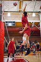 STANFORD, CA - March 10, 2018: Jake Stuebner at Burnham Pavilion. UC Irvine defeated the Stanford Cardinal, 3-0.
