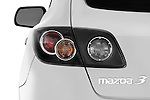 Tail light close up detail view of a 2009 Mazda3 5-Door Sport