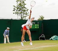 Alize Cornet<br /> <br /> Tennis - The Championships Wimbledon  - Grand Slam -  All England Lawn Tennis Club  2013 -  Wimbledon - London - United Kingdom - Friday 28th June  2013. <br /> &copy; AMN Images, 8 Cedar Court, Somerset Road, London, SW19 5HU<br /> Tel - +44 7843383012<br /> mfrey@advantagemedianet.com<br /> www.amnimages.photoshelter.com<br /> www.advantagemedianet.com<br /> www.tennishead.net