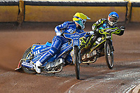 Erik Riss of King's Lynn Stars looks for team mate Rob Lambert of King's Lynn Stars in Heat 1 during Poole Pirates vs King's Lynn Stars, SGB Premiership Shield Speedway at The Stadium on 11th April 2019