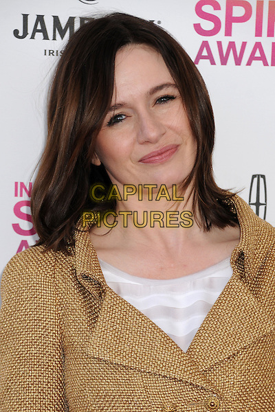Emily Mortimer.2013 Film Independent Spirit Awards - Arrivals held at Santa Monica Beach.  .Santa Monica, California, USA, .23rd February 2013..indy indie indies indys portrait headshot  gold jacket tweed  .CAP/ADM/BP.©Byron Purvis/AdMedia/Capital Pictures.