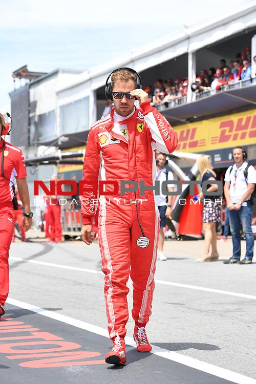 10.06.2018, Circuit Gilles Villeneuve, Montreal, FORMULA 1 GRAND PRIX DU CANADA, 08. - 10.06.2018 <br />  , im Bild<br /> Sebastian Vettel (GER#5), Scuderia Ferrari<br /> <br /> <br /> <br /> <br /> Foto &copy; nordphoto / Bratic