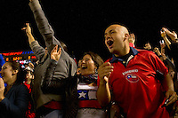 CARSON, CA – JANUARY 22: Chile fans celebrating goal during the international friendly match between USA and Chile at the Home Depot Center, January 22, 2011 in Carson, California. Final score USA 1, Chile 1.