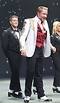 Michael Flatley with James Keegan and the cast onstage during the curtain call for the Broadway Opening and dedut of 'Lord of the Dance: Dangerous Games' at The Lyric Theatre on November 10, 2015 in New York City.