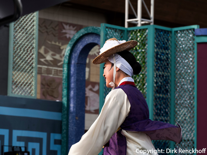 Folklore im Yongdusan Park, Busan, Gyeongsangnam-do, S&uuml;dkorea, Asien<br /> folklore in Yongdusan park, Busan,  province Gyeongsangnam-do, South Korea, Asia