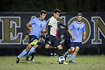 Brandon Servania (8) of the Wake Forest Demon Deacons kicks the ball during first half action against the Columbia Lions in the second round of the 2017 NCAA Men's Soccer Championship at Spry Soccer Stadium on November 19, 2017 in Winston-Salem, North Carolina.  The Demon Deacons defeated the Lions 1-0.  (Brian Westerholt/Sports On Film)