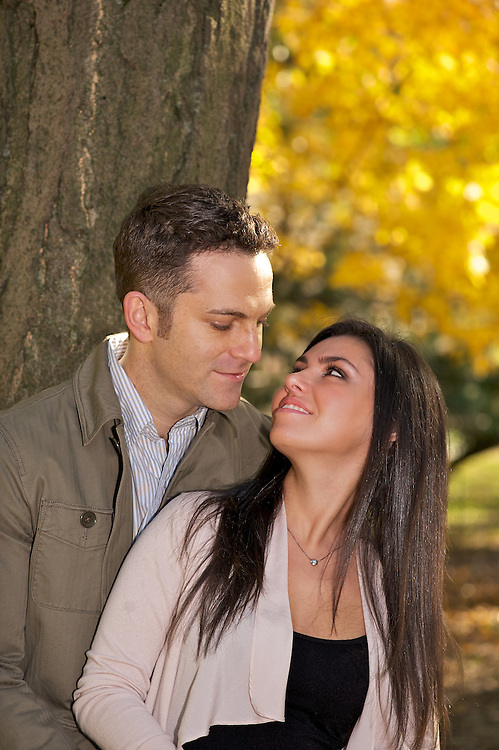 Engagement portrait in Riverside Park.