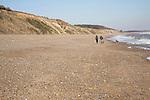Dunwich beach and cliffs, North Sea coast, Suffolk, East Anglia, England