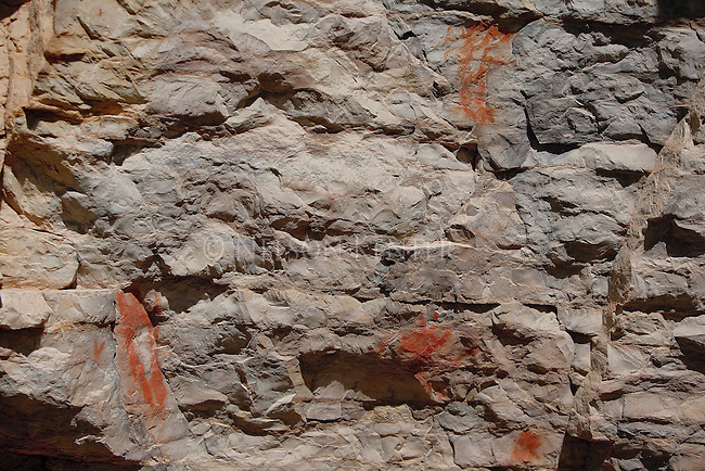Pictographs in the Smith River corridor in Montana