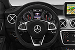 Car pictures of steering wheel view of a 2015 Mercedes Benz CLA Class 220 AMG line 5 Door Wagon