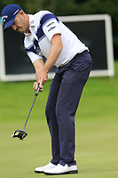 Stuart Manley (WAL) takes his putt on the 17th green during Sunday's Final Round of the Northern Ireland Open 2018 presented by Modest Golf held at Galgorm Castle Golf Club, Ballymena, Northern Ireland. 19th August 2018.<br /> Picture: Eoin Clarke | Golffile<br /> <br /> <br /> All photos usage must carry mandatory copyright credit (&copy; Golffile | Eoin Clarke)