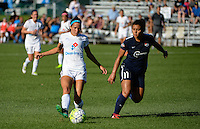 Kansas City, MO - Sunday September 04, 2016: Shea Groom, Raquel Rodriguez during a regular season National Women's Soccer League (NWSL) match between FC Kansas City and the Sky Blue FC at Swope Soccer Village.