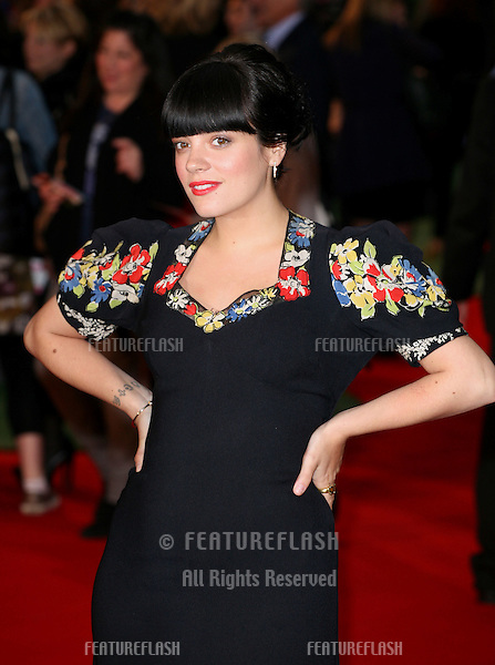 Lily Allen arriving at the UK premiere of 'Tamara Drewe' at Odeon Leicester Square, London. 06/09/2010  Picture by: Alexandra Glen / Featureflash