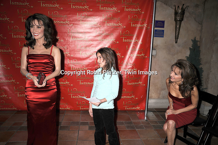 Susan Lucci, wax figure of Susan Lucci and audtioner.at the unveiling of the Susan Lucci wax figure at.Madame Tussaud's New York on February 12, 2008. Afterwards there were audtions for a walk-on role on All My Children...Photo by Robin Platzer, Twin Images..212-935-0770