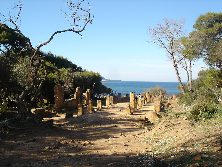 Tipaza, Algeria: Ruins of the Roman town on the Mediterranean coast