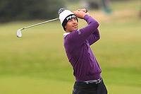 Victor Perez (FRA) on the 17th fairway during Round 4 of the Alfred Dunhill Links Championship 2019 at St. Andrews Golf CLub, Fife, Scotland. 29/09/2019.<br /> Picture Thos Caffrey / Golffile.ie<br /> <br /> All photo usage must carry mandatory copyright credit (© Golffile | Thos Caffrey)