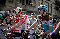 Oliver Naesen (BEL/AG2R-La Mondiale) & Tiesj Benoot (BEL/Lotto-Soudal) ahead of the race start<br /> <br /> Belgian National Road Championships 2019 - Gent<br /> <br /> ©kramon