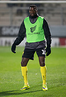 3rd December 2019; Pirelli Stadium, Burton Upon Trent, Staffordshire, England; English League One Football, Burton Albion versus Southend United; Lucas Akins of Burton Albion during the pre match warm up - Strictly Editorial Use Only. No use with unauthorized audio, video, data, fixture lists, club/league logos or 'live' services. Online in-match use limited to 120 images, no video emulation. No use in betting, games or single club/league/player publications