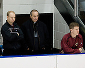 John Hegarty (BC Director - Hockey Ops), Father Tony Penna, Bert Lenz (BC Trainer) - The Boston College Eagles and Providence Friars played to a 2-2 tie on Saturday, March 1, 2008 at Schneider Arena in Providence, Rhode Island.