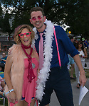 Event emcee's Connie Wrae and Landon Miller during Pops on the River at Wingfield Park in Reno, Nevada on Saturday, July 14, 2018.