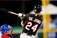 11 March 2009: #24 Sidney De Jong of the Netherlands hits the ball during the 2009 World Baseball Classic Pool D game 6 at Hiram Bithorn Stadium in San Juan, Puerto Rico. Puerto Rico wins 5-0 over the Netherlands